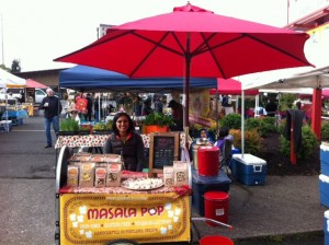 Neha Patel, showcasing Masala Pop at a local market