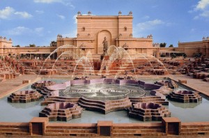 Musical Fountains at Akshardham Temple, Delhi