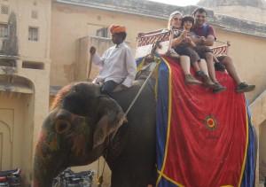 Elephant ride, Jaipur
