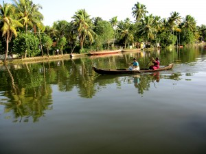 Backwater Canals in Kerala