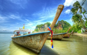 Traditional Boat in Krabi, Thailand