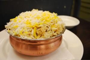 Biryani, a fragrant mixed rice dish.