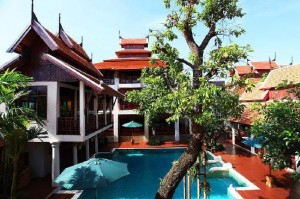 Rim Resort Interior Courtyard and Pool