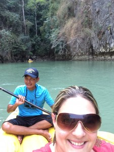 Photo from Bat Lagoon in Phang Nga Bay with my guide, Ole'