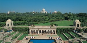 All rooms at the Oberoi Amarvilas in Agra, India have a view of the iconic Taj Mahal.