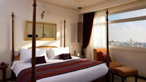 Taj Facing Room at Gateway Hotel in Agra, India.