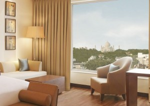View of the Taj Mahal from the DoubleTree in Agra, India