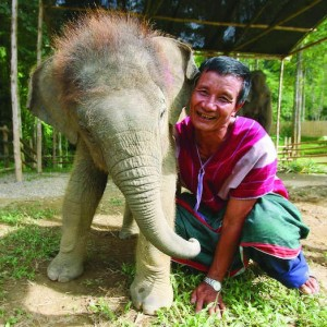 A local greeting at Elephant Hills in Khao Sok, Thailand