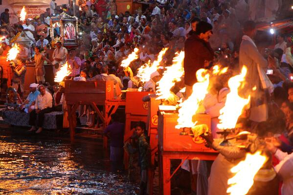 Aarti Ceremony Haridwar, India