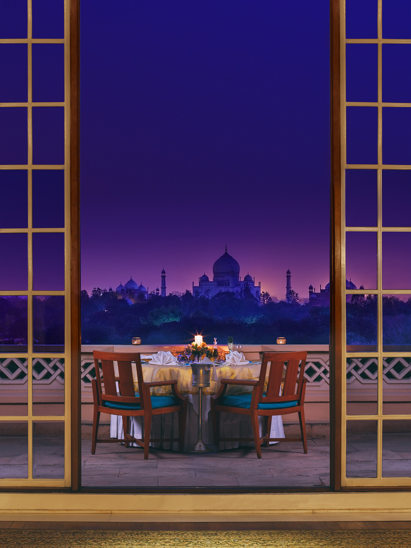 The view from Oberoi Amarvilas in Agra, India