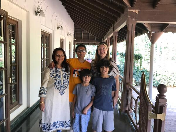With the Mallikarjuna Family at Siddhanta Manor in Ballupet