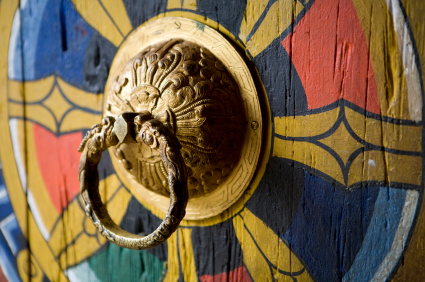 Bhutan trad doorknob