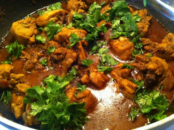 Chettinad Chicken from the Chettinad region of South India