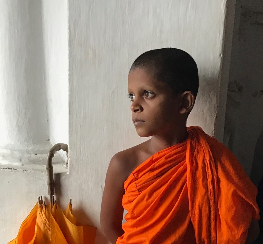 Dambulla Temple Monk-1