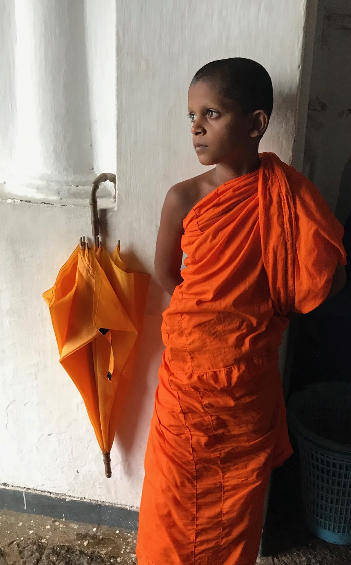 Dambulla Cave Temple Monk