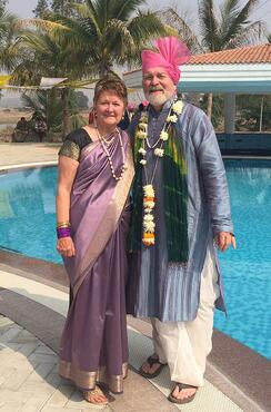 Don and Nancy Smith, Sodha Travelers at a wedding in Nagpur, India