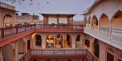 Courtyard View of Haveli Dharampura in Old Delhi