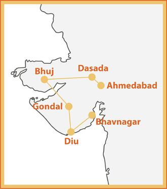 Festive Gujarat Map