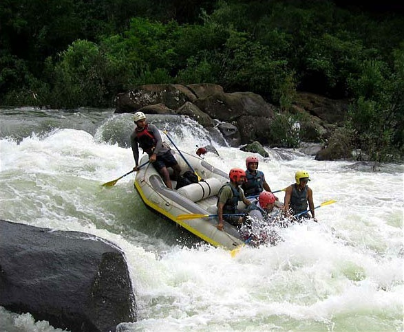 Rafting in Goa during monsoon season