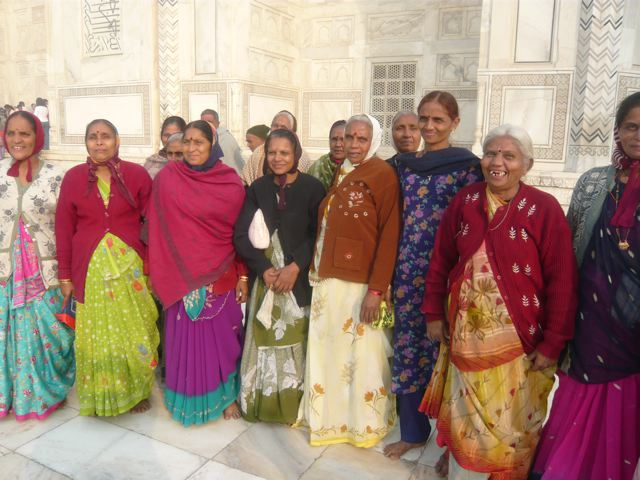 A photo of Indian women in Agra, from a group tour