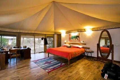 Tents at Jamtara Wilderness Camp