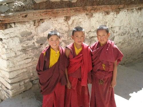 Junior Monks at Hemis Monastery, Ladakh