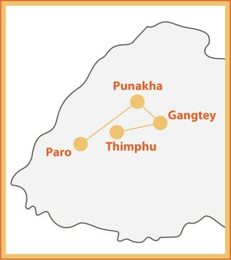 Legacy of Bhutan Map