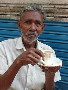 Enjoy some chai and chaat with the locals.