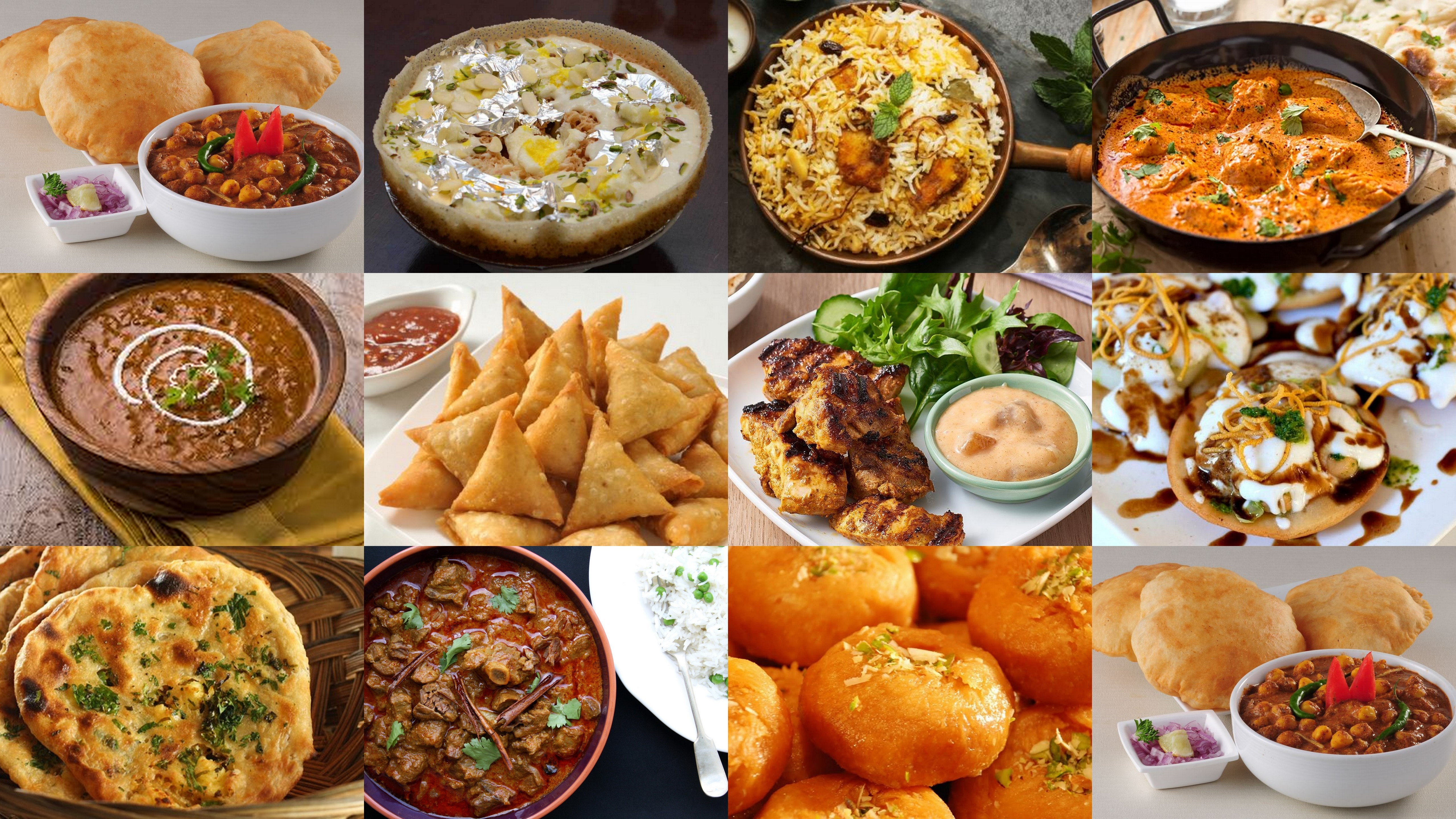 North India Food Collage