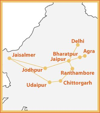 Palace on Wheels Map