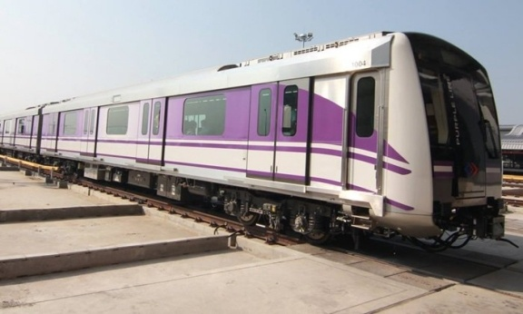The new purple MRT line in Bangkok