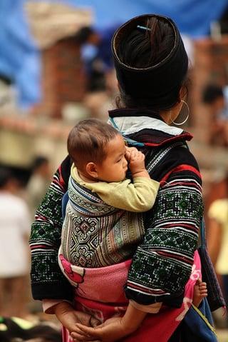 A child in Sapa, Vietnam