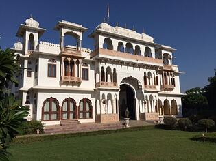 Exterior of Talabgaon Castle in Rajasthan