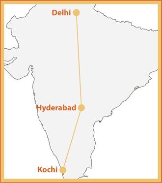 Taste of India Map