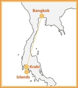 Thai Island Sunsets Map