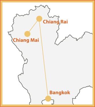 Thailand Express Map