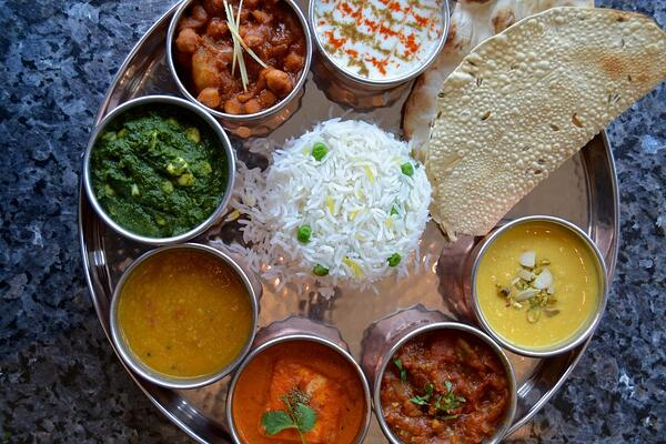 A traditional Thali in North India