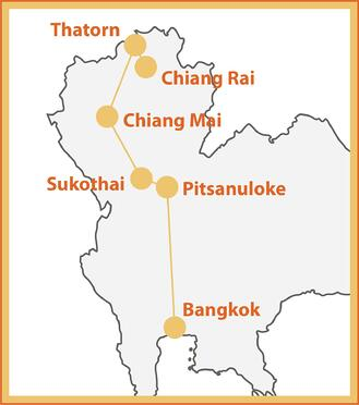 Trails of Thailand Map