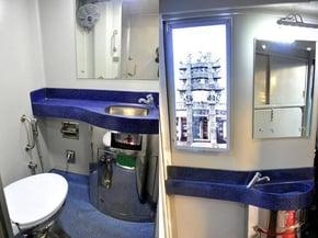 Prototype of Bathroom on Indian Railways. Photo courtesy of SITA.