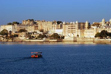 Legends of India, a small group tour. Visit the City Palace in Udaipur.