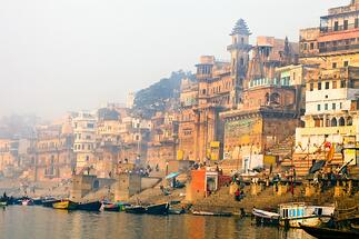 Legends of India, a small group tour. Enjoy a sunrise boat ride on the Ganges River in Varanasi.