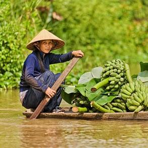River Vendor in Vietnam