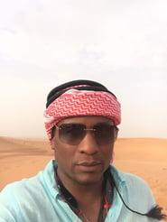 W in the sand dunes, Dubai