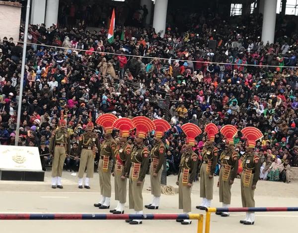 Wagah Border Ceremony in Punjab, India