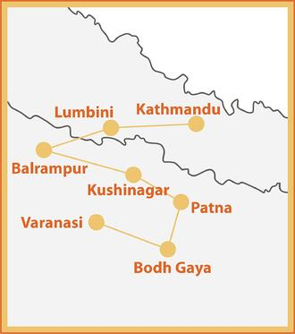 Wonders of Hinduism and Buddhism Map