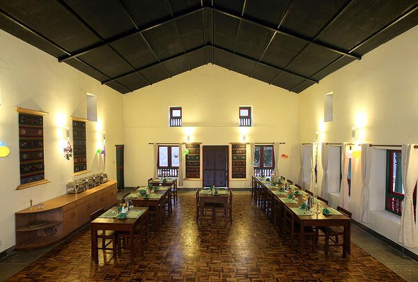 Dining Room at La Bee Lodge, Nepal