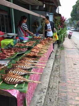 A market in Luang Prabang, Laos. Photo courtesy of Sodha Traveler Michael H.